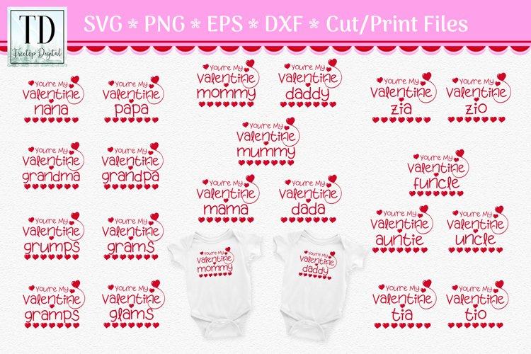 Valentine SVG Bundle for Mom, Dad, Grandparent, Aunt & Uncle
