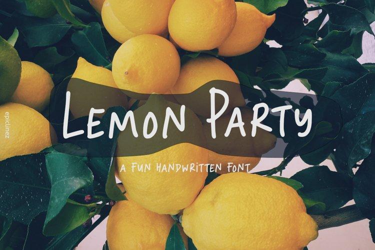 Lemon Party - A Fun Handwritten Font example image 1