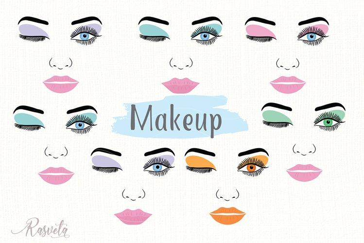 Make up svg Female Face Makeup Eyelashes Eyes Lips /3 example image 1