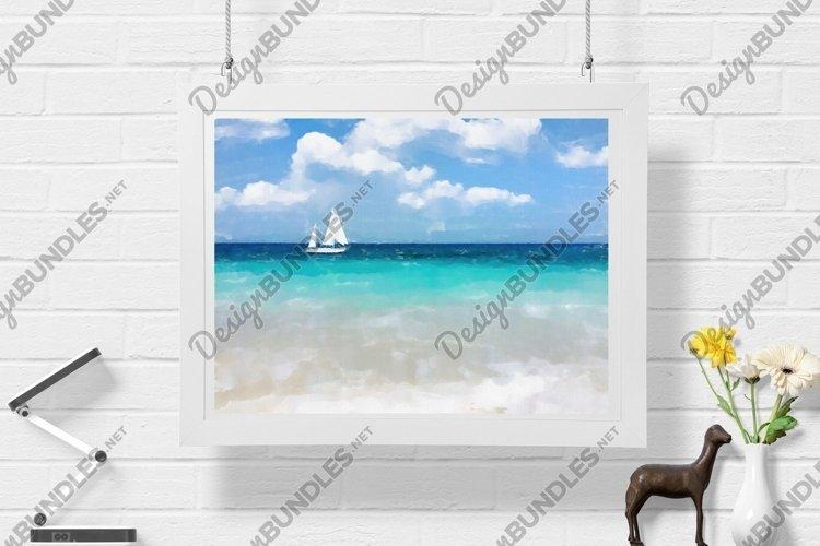 Sailboat - Watercolor - Wall Art - Digital Print example image 1