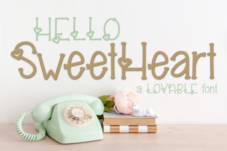 Hello Sweetheart a Lovable Font