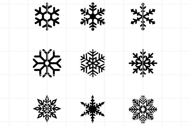 Snowflake SVG. Christmas SVG. Winter SVG. Flake Winter cut. example image 1