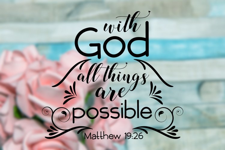 Whit God All Things Are Possible,Christian Svg Bundl,Rel example image 1