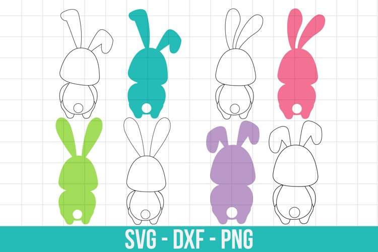 Easter bunny silhouette svg, Easter cut files