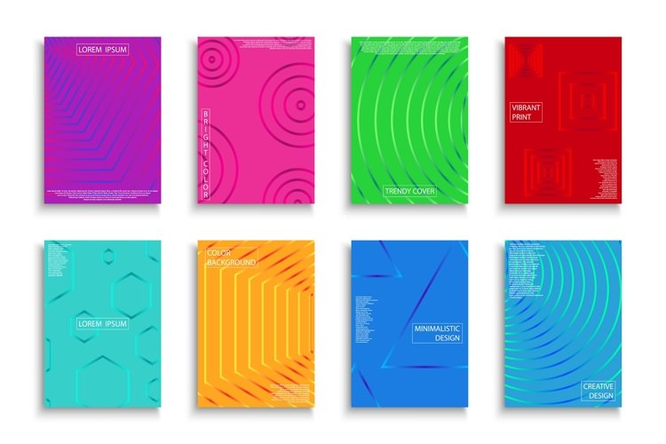 Vector bright colorful posters