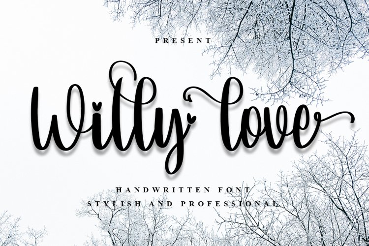 Willy Love | Sweet Handwritten Font example image 1