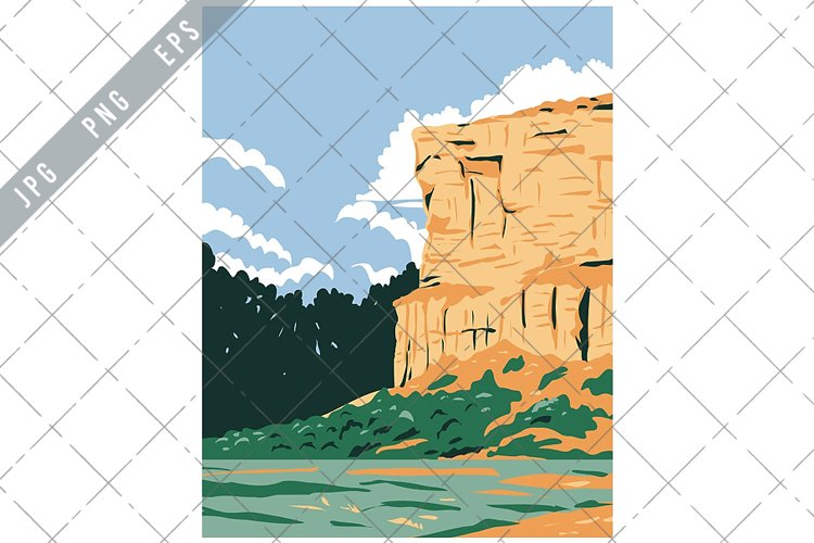 Pompeys Pillar National Monument WPA Poster Art example image 1