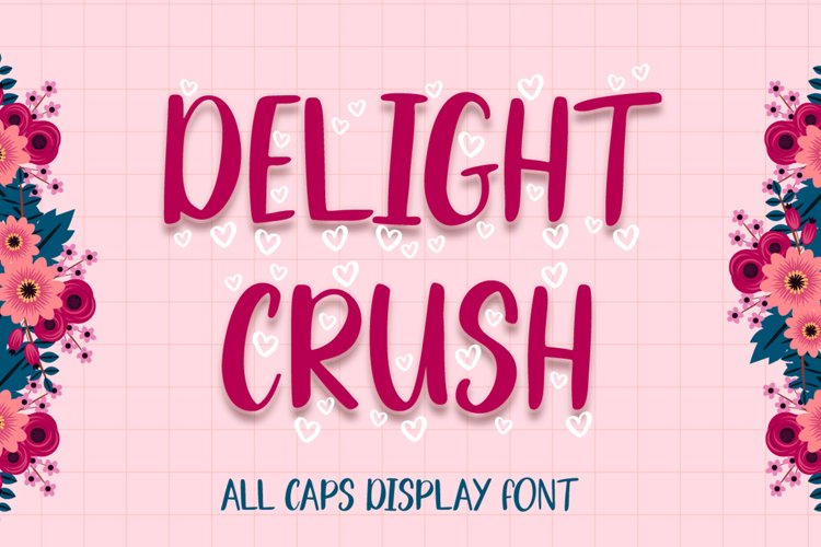 Delight Crush - Lovely Font example image 1