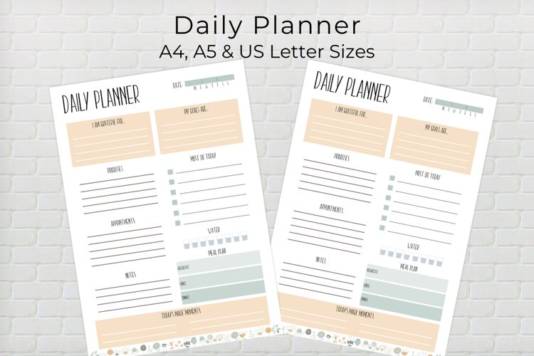 Daily Planner Template example image 1