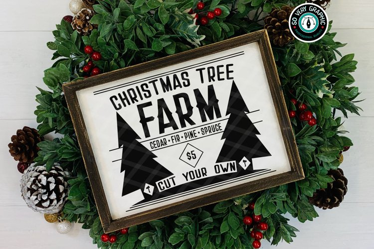 Christmas Tree Farm Cut Your Own $5 SVG Design