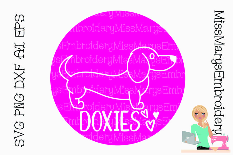 Dachshund Doxies Love SVG PNG DXF AI EPS Al example image 1