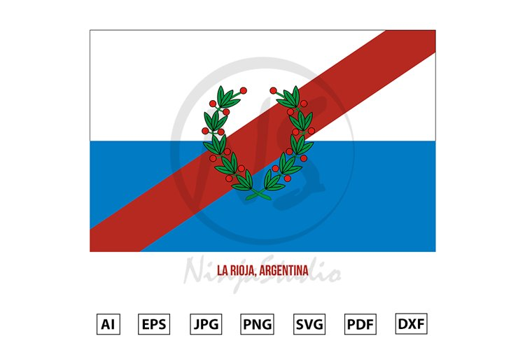 La Rioja Flag Vector. Flag of Argentina Provinces example image 1