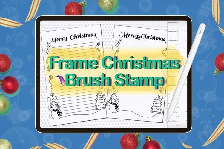 Procreate brush stamp Guide frame Christmas,Frame Christmas example image 1