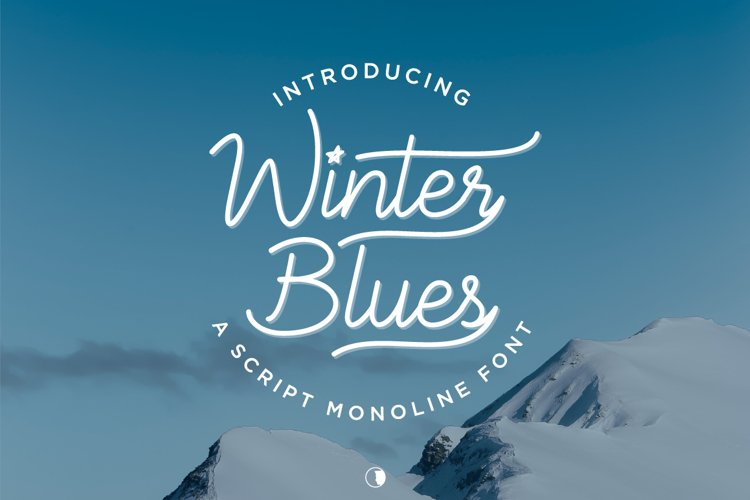Winter Blues - modern monoline font example image 1