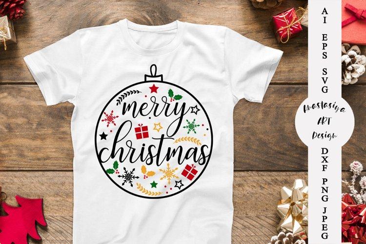 Christmas ball svg, Merry christmas, Family christmas shirt example image 1