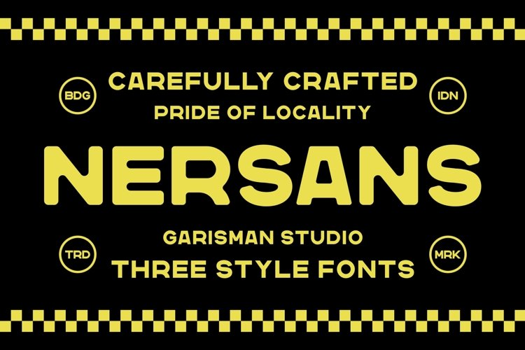 Nersans - Vintage Font with 3 Styles example image 1