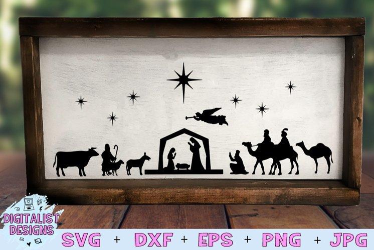 Nativity Scene SVG | Nativity SVG | Christmas SVG example image 1