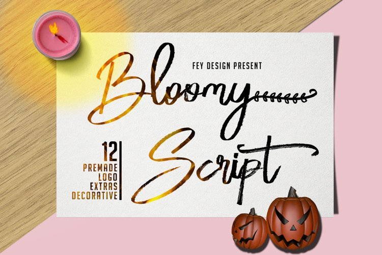 Bloomy Script example image 1