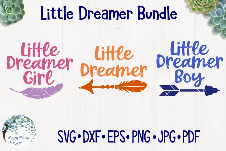 Little Dreamer Bundle   Baby SVG Cut Files example image 1