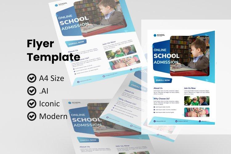 School online class flyer template example image 1