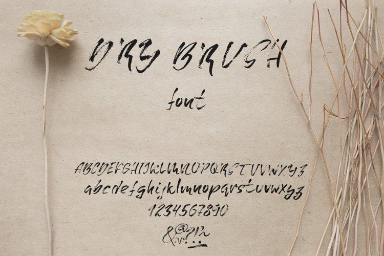 Grunge dry brush font example image 1
