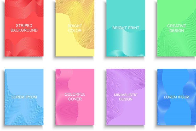 Bright colorful striped posters