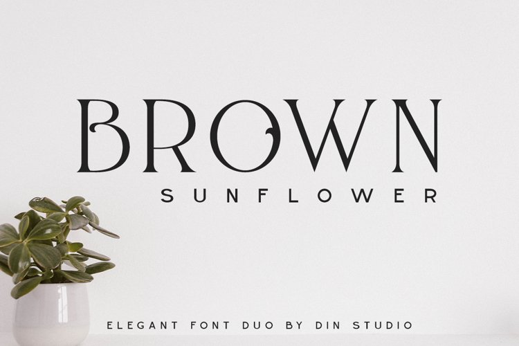 Brown Sunflower example image 1