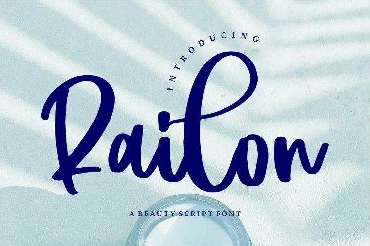 Railon - A Beauty Script Font example image 1