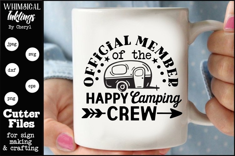 Happy Camping Crew SVG example image 1