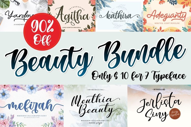 Beauty Bundle | Font Beauty Collection example image 1