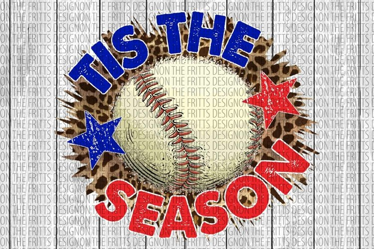 Tis the season baseball Digital Design