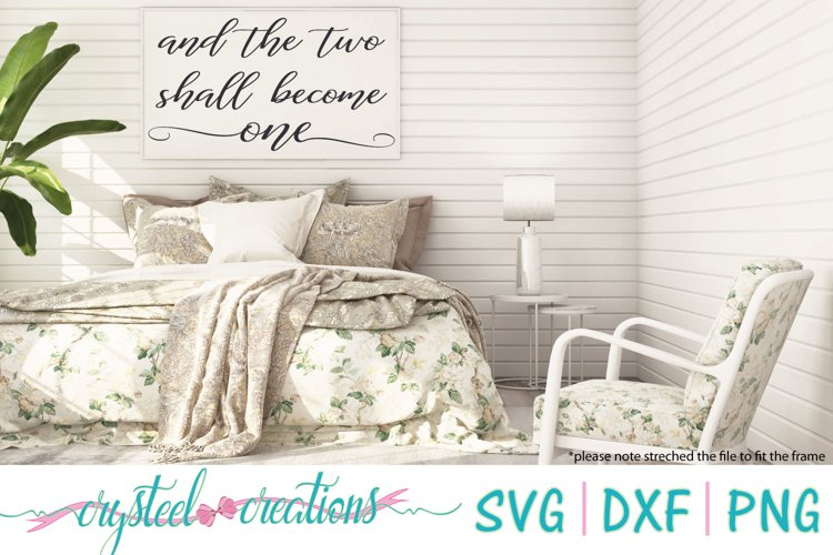 Two Shall Become One SVG, DXF, PNG example image 1