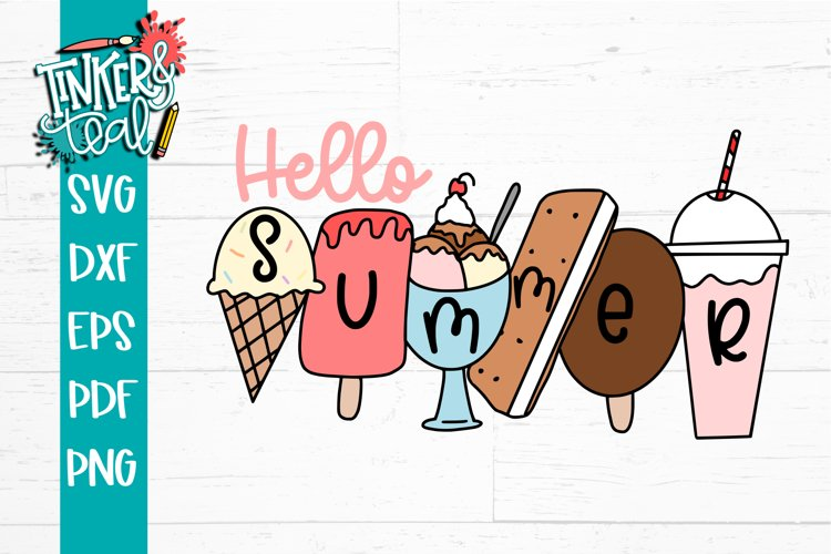 Hello Summer Ice Cream SVG example image 1