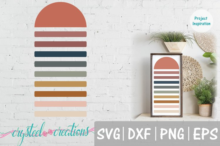 Half Sun Boho SVG, DXF, PNG, EPS