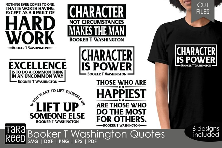 Booker T Washington Quotes - SVG and Cut Files for Crafters