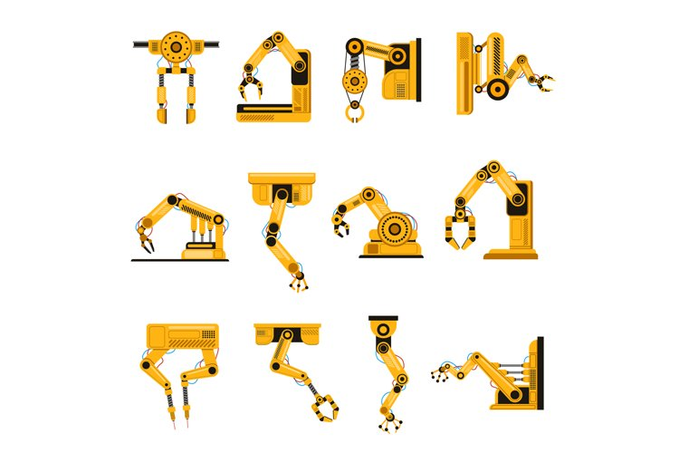 Manufacturing robots arms. Automation equipment, factory example image 1