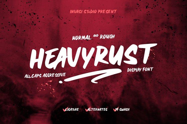 Heavyrust | Display Font example image 1