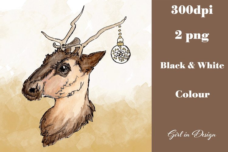 Christmas Reindeer Decoration Clipart example image 1