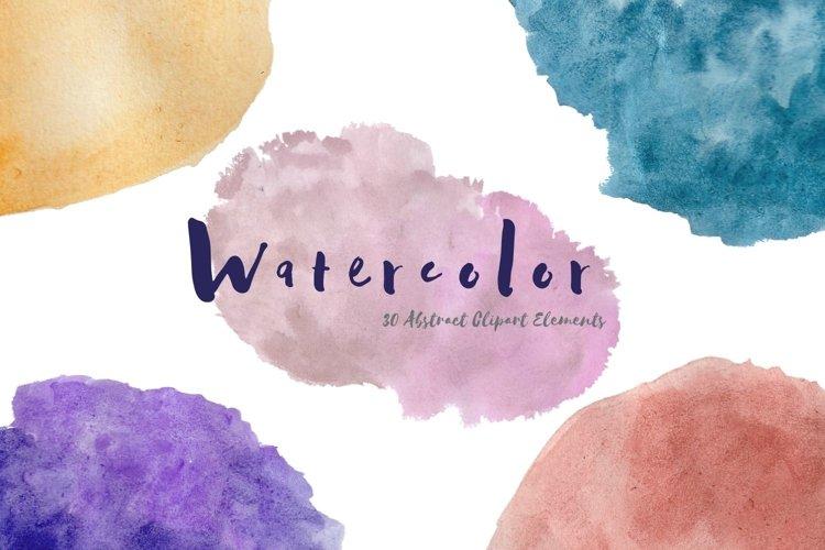30 Colorful Watercolor Clip Art Bundle example image 1
