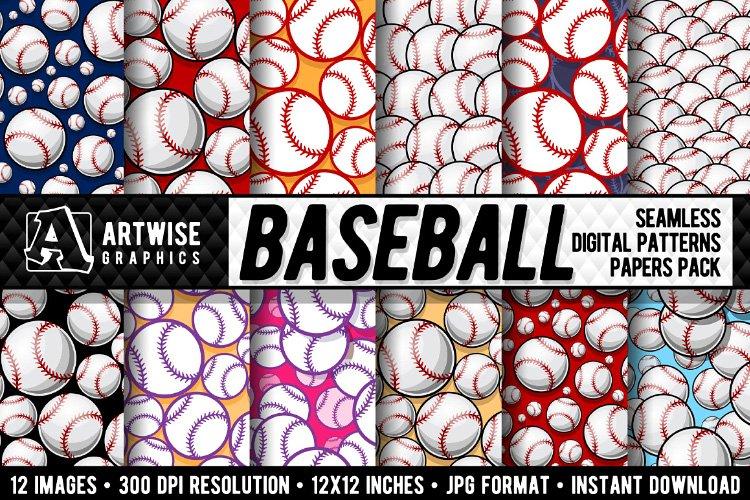 Baseball Digital Paper Seamless Pattern Graphics