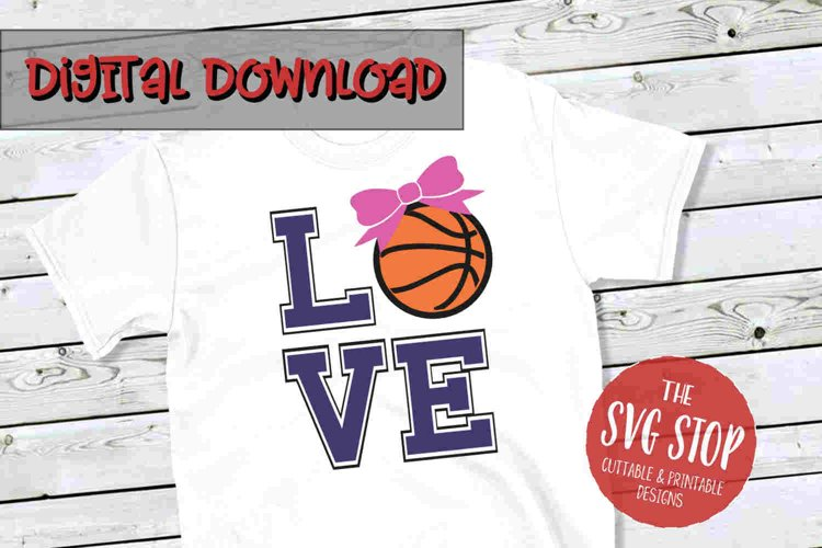Love Bow Basketball-SVG, PNG, DXF