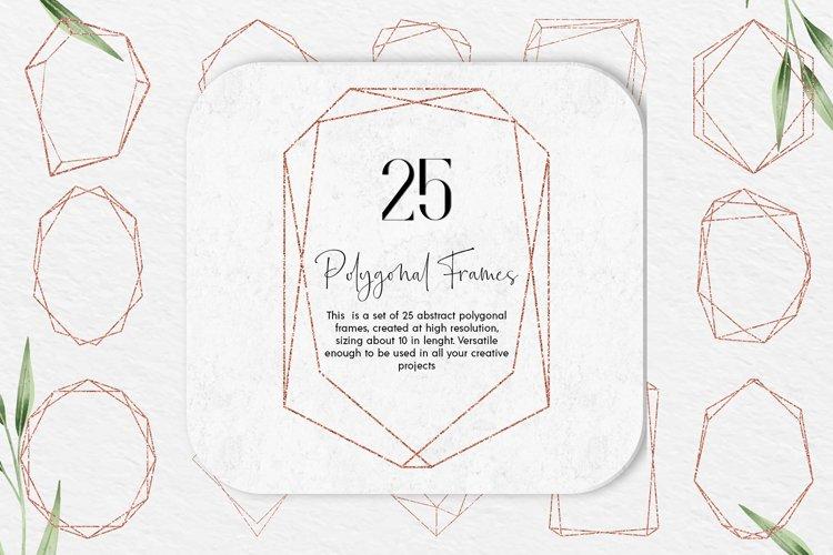 Download Rose Gold Glitter Geometric Polygonal Frames Clipart 933968 Elements Design Bundles