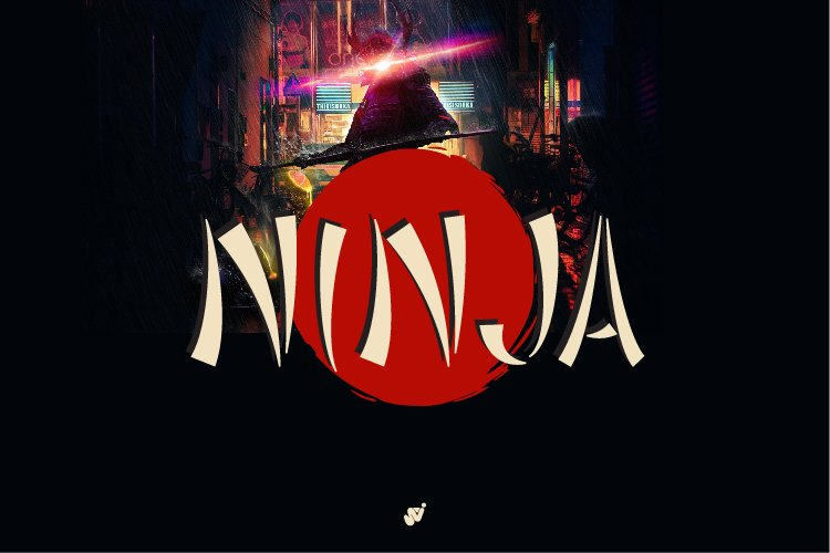 Ninja - Brush Font V2 example image 1