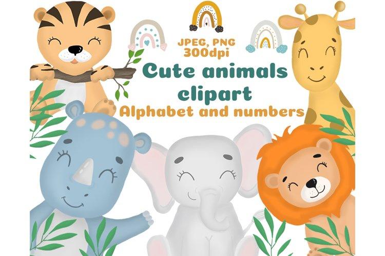 Cute animal clipart, Safari animal clipart, safari alphabet