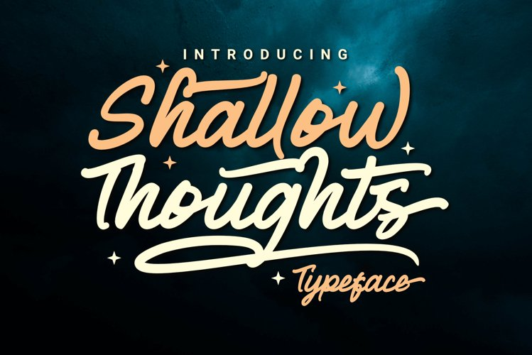 Shallow Thoughts - Modern Script example image 1