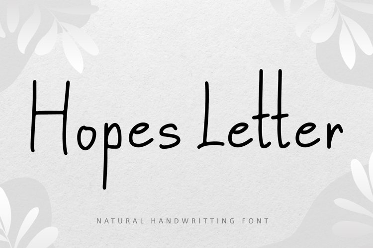 Hopes Letter example image 1