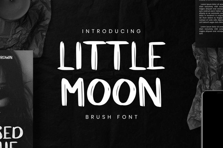 Web Font Little Moon example image 1