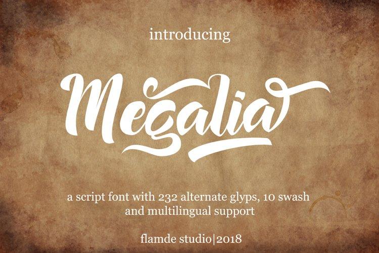 Megalia - Script Font example image 1