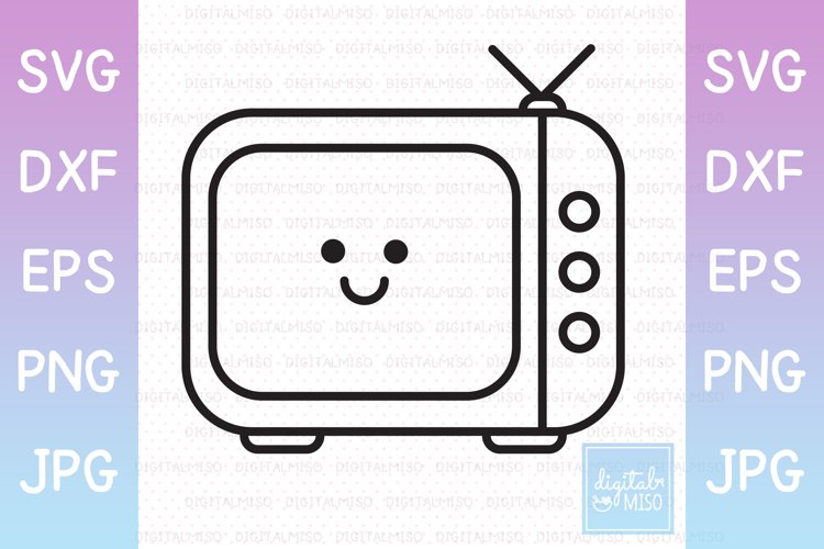 TV / Television Outline - Kawaii Vector Icons