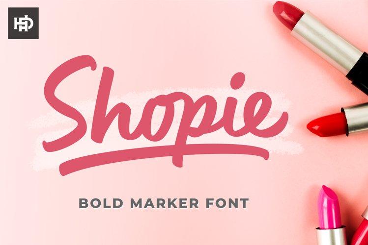 Shopie - Marker Font example image 1